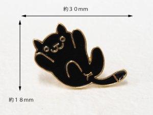 画像3: ピンバッチ★ねこあつめっぽい黒猫