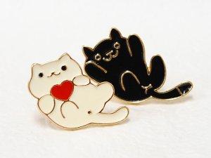 画像4: ピンバッチ★ねこあつめっぽい黒猫
