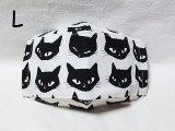 猫柄マスク★黒猫
